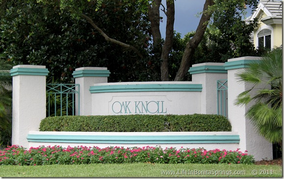 Oak Knoll Bonita Bay Sign