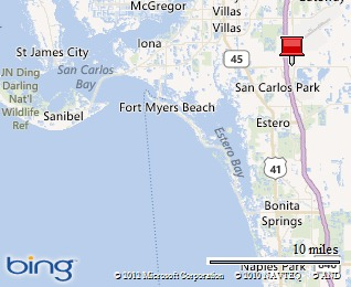 How Far is Bonita Springs From The RSW Airport