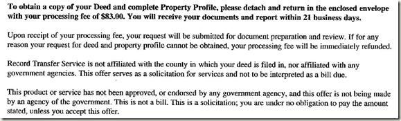 Real estate Disclaimer Scam