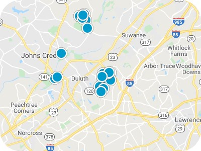 North Atlanta Real Estate Map Search