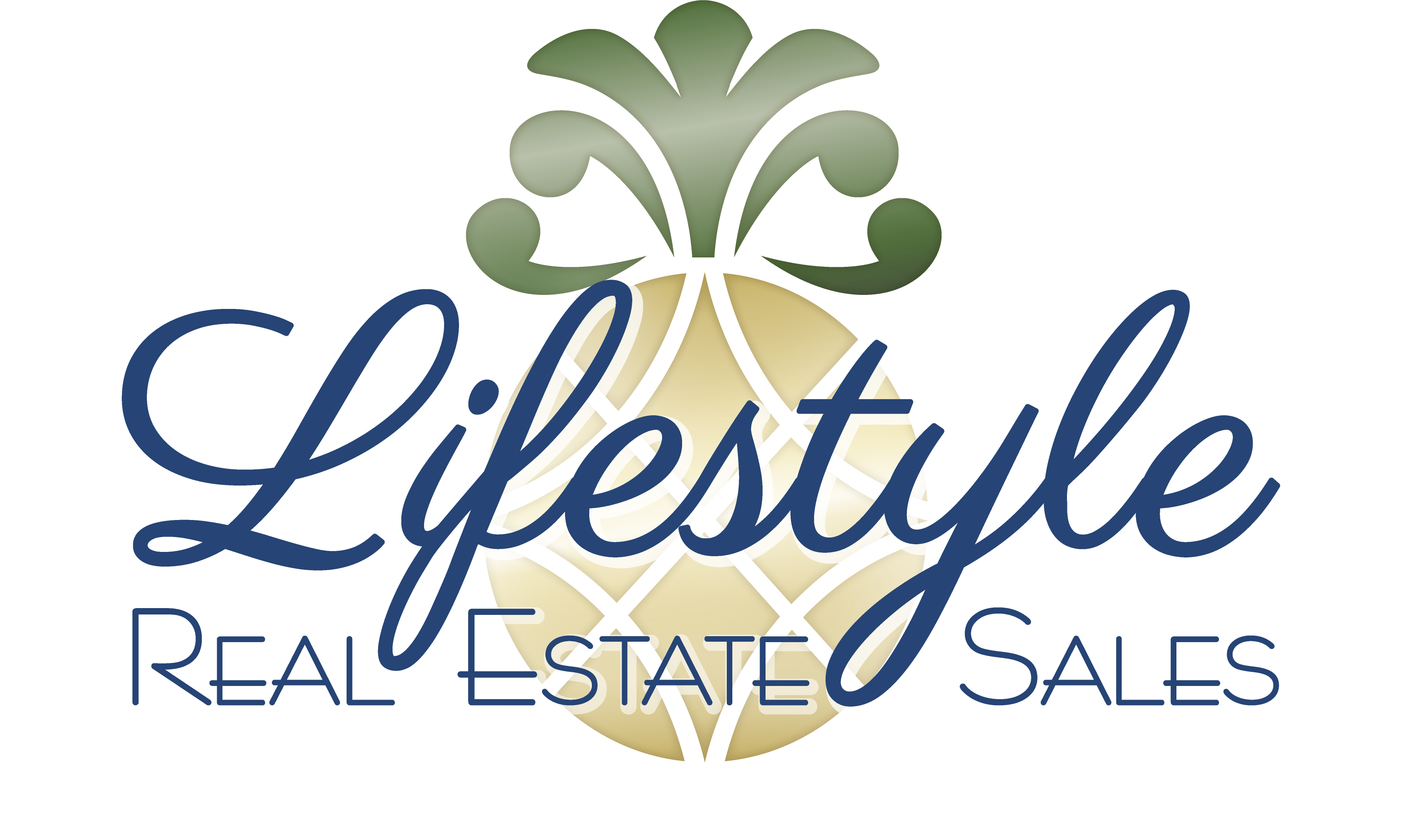 Lifestyle Real Estate Sale Logo with Pineapple icon