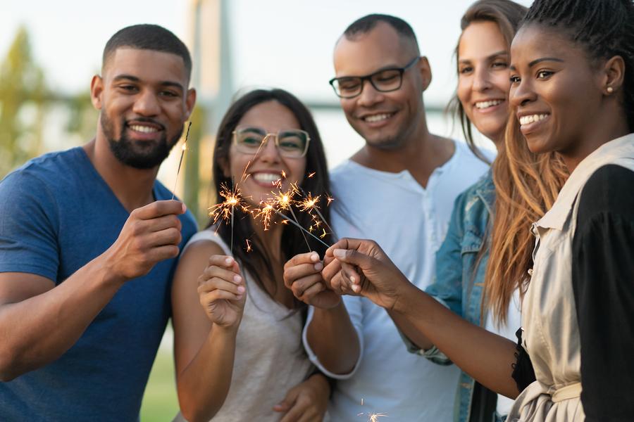 Celebrate with neighbors near Wildwood homes.