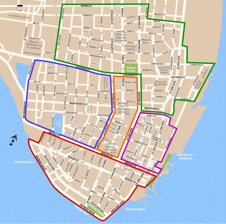 Map - Charleston Historic District - 1