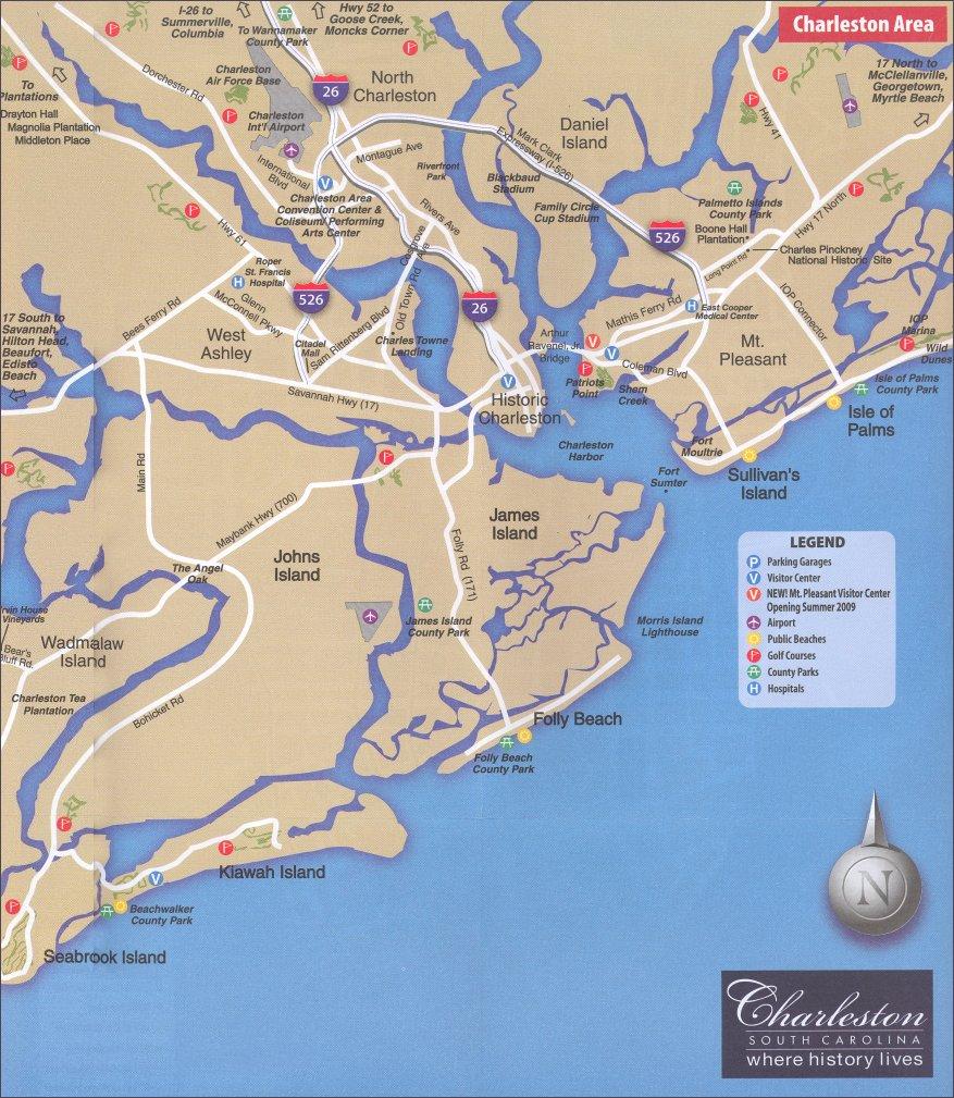 Charleston Area Map