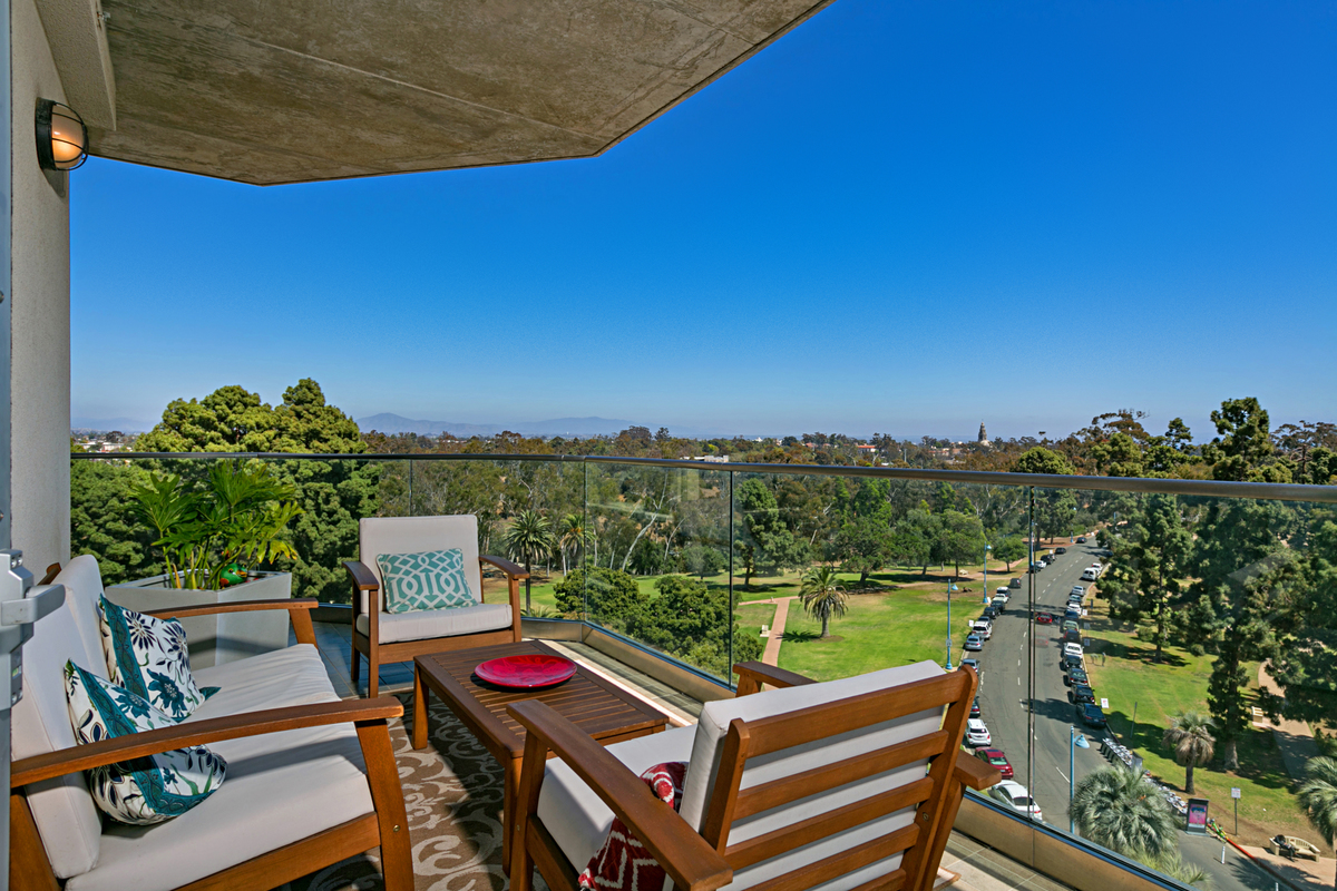 Park One Condo Views over Balboa Park