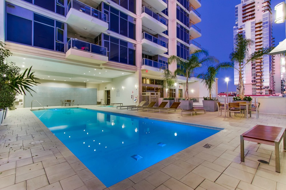 Picture of the pool at Alta Condos