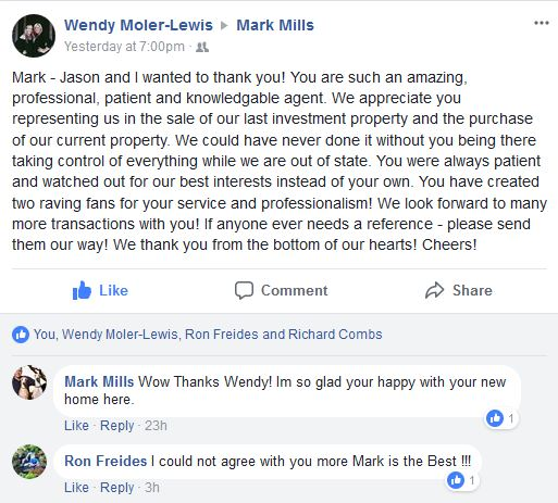 5 Star Review of Mark Mills from Facebook