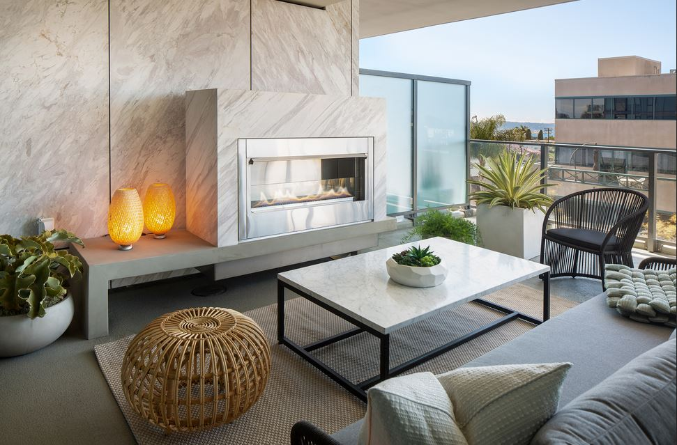outdoor terrace space at The Park Condos in San Diego