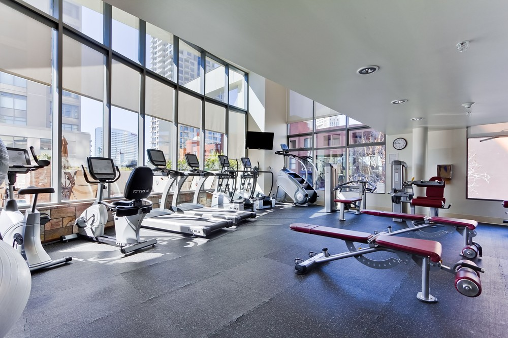 picture of the gym in renaissance condominiums in downtown San Diego