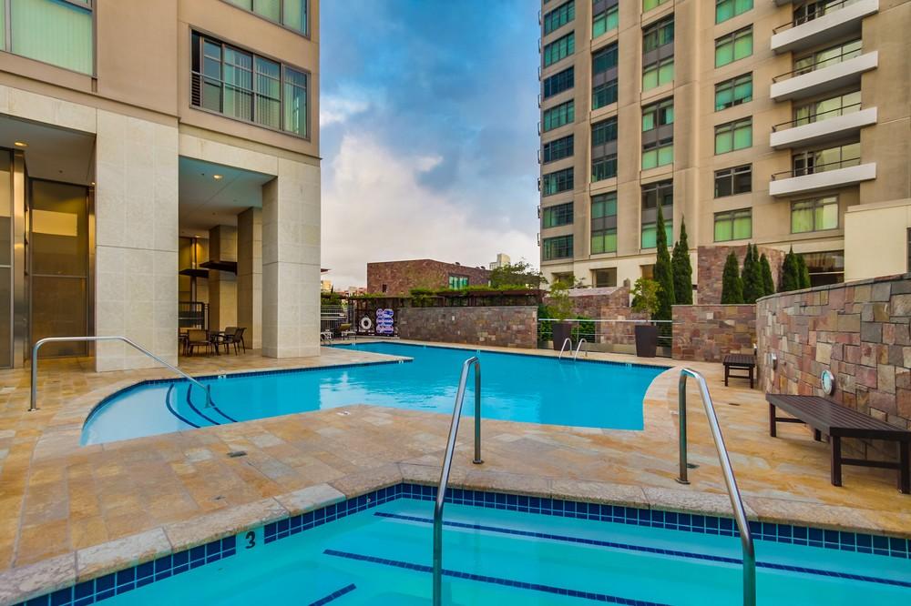 pool at renaissance condos marina neighborhood