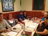 One table of our group at Burnt Store Grill