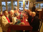 Group of twelve at Wallys Southern BBQ