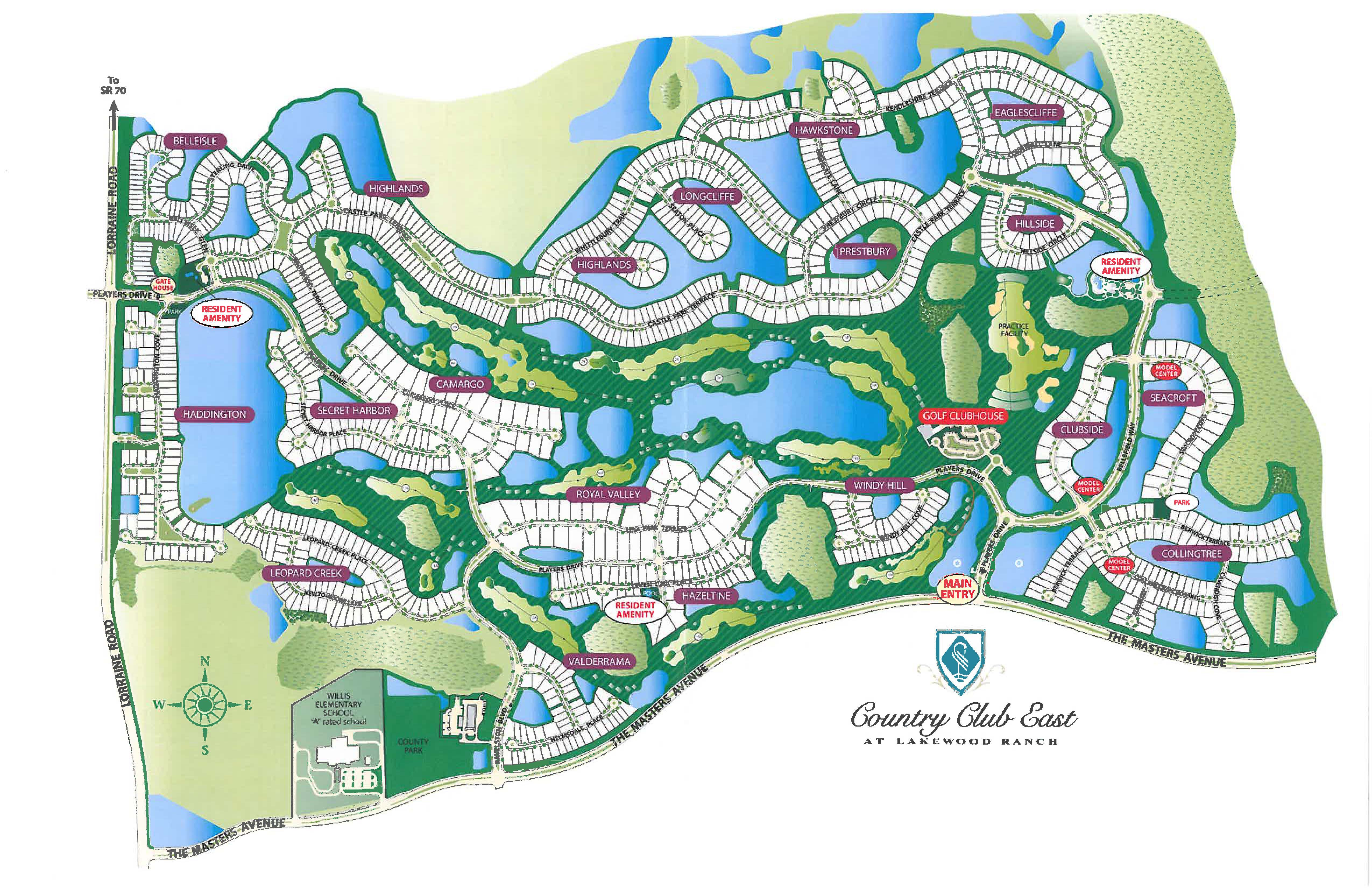 Map of Country Club East