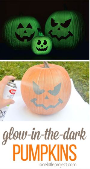 5 quick diy halloween decor ideas for Glow in the dark paint for real pumpkins