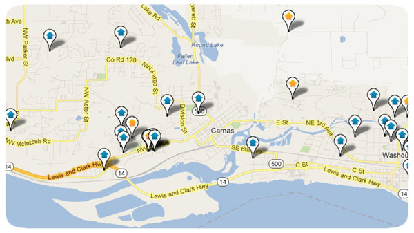 Salmon Creek Area Homes Search Map Results