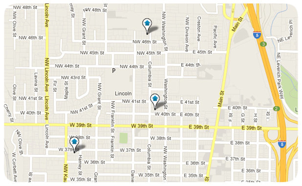 Licoln Vancouver Area Homes Search Map Results