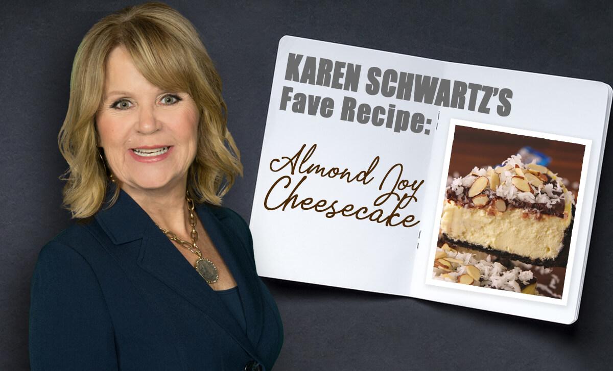 Karen Schwartz Almond Joy Cheesecake