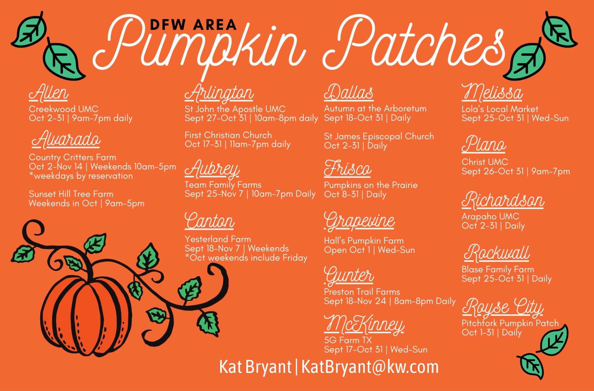 DFW Pumpkin Patches 2021