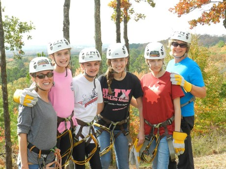 My crew at the zipline