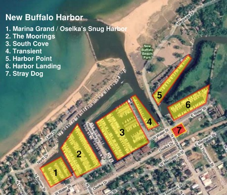 New Buffalo Harbor Map