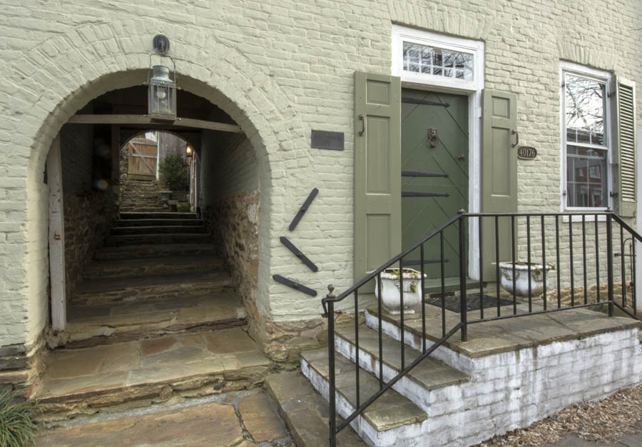 The circa 1763 Arch House in Waterford Virginia