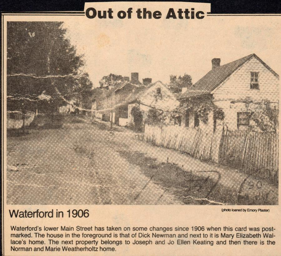 Old pictures of the village of Waterford