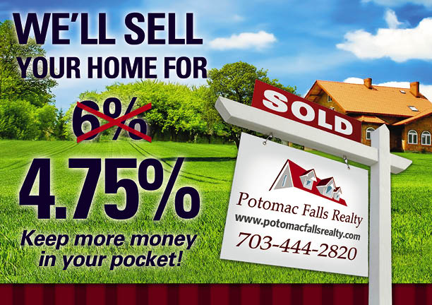 Sell your home for 4.75%
