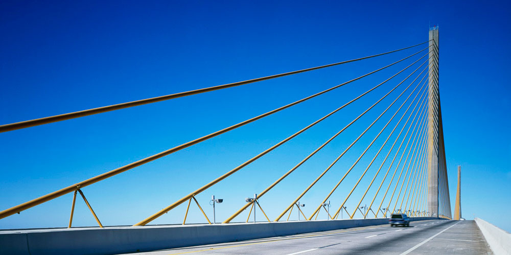 Moving to St. Petersburg   Tampa Bay Relocation Guide   Sunshine Skyway Bridge to St. Petersburg