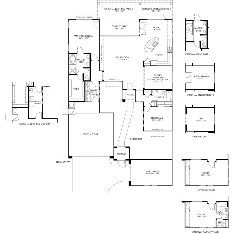 Cadence Floor Plan - CantaMia Floor Plans and Models