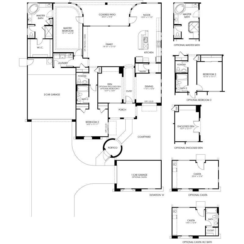 Crescendo Floor Plan - Symphony Series - CantaMia Models