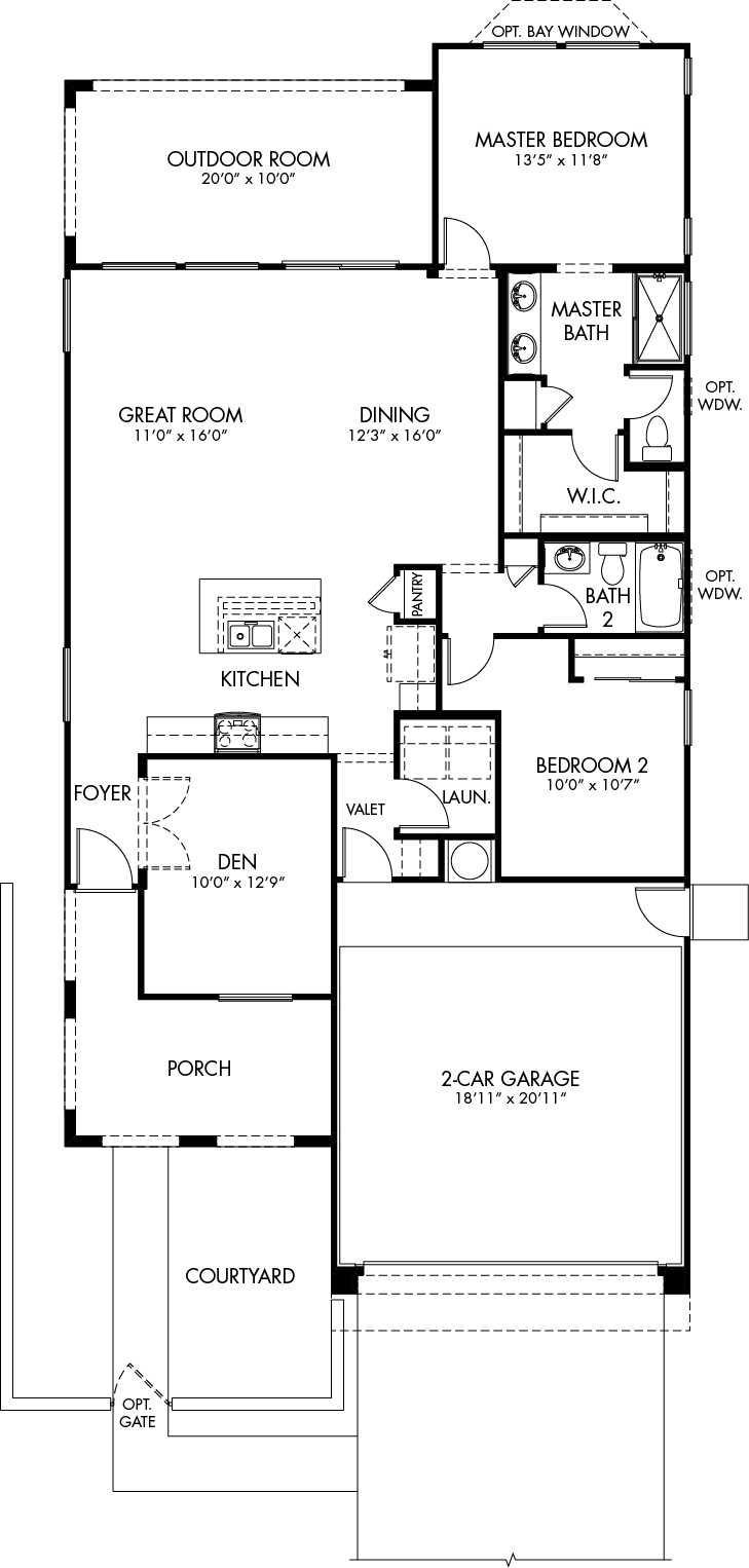 Libretto Floor Plan - Duet Series - CantaMia Floor Plans