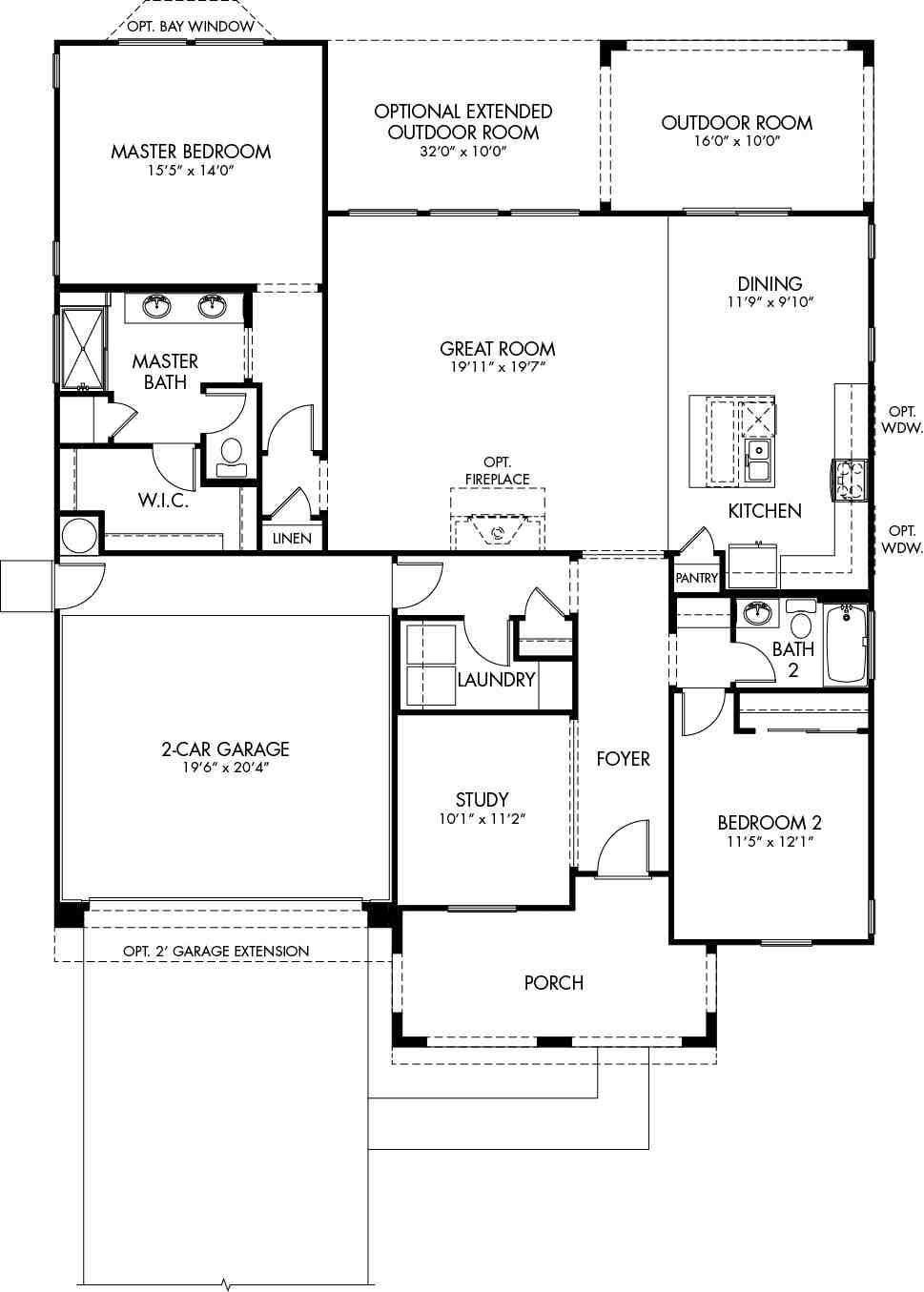 Operetta Floor Plan - CantaMia Floor Plans and Models