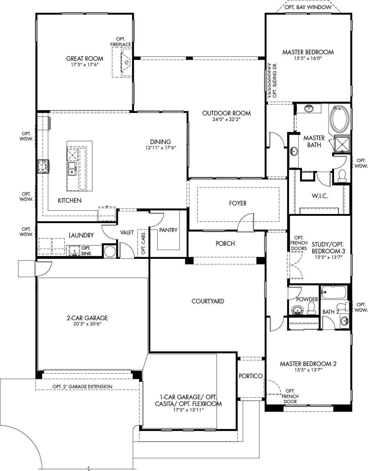 Tremolo Floor Plan - CantaMia Floor Plans and Models