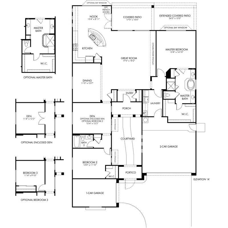 Vivace Floor Plan   Ensemble Series   CantaMia Floor Plans