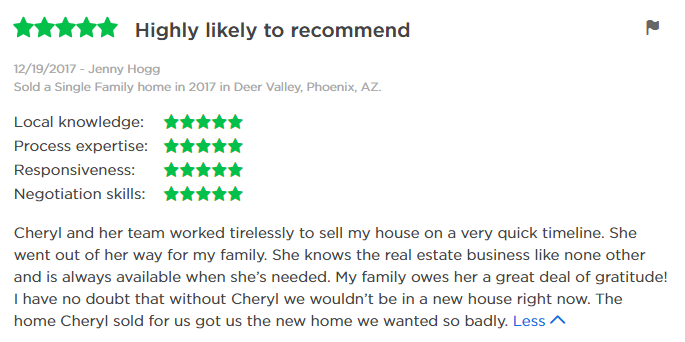 Cheryl Benjamin Loving Phoenix Team Review