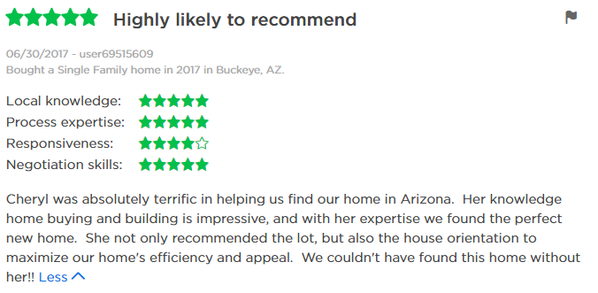 Cheryl Benjamin Realty One Group Review