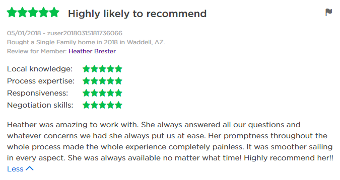 Heather Brester Zillow Review
