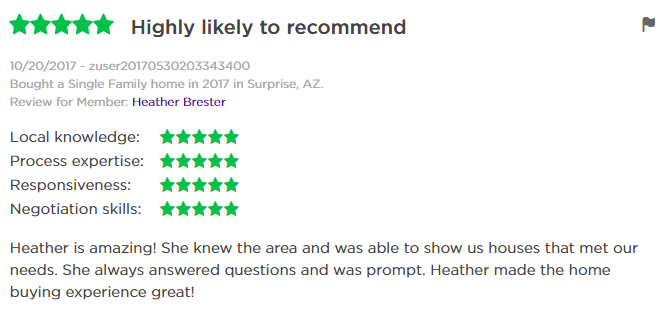 Review of Heather Brester Loving Phoenix Team at Realty One Group