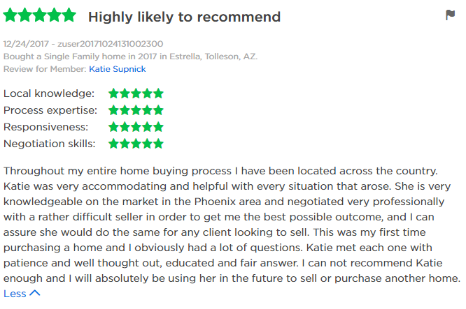 Katie Supnick Zillow Review