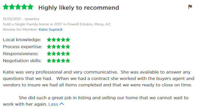 Katie Supnick Loving Phoenix Team Review