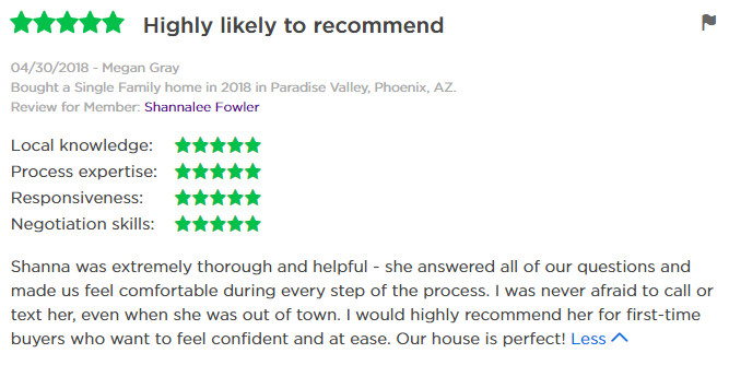 Shannalee Fowler Zillow Review