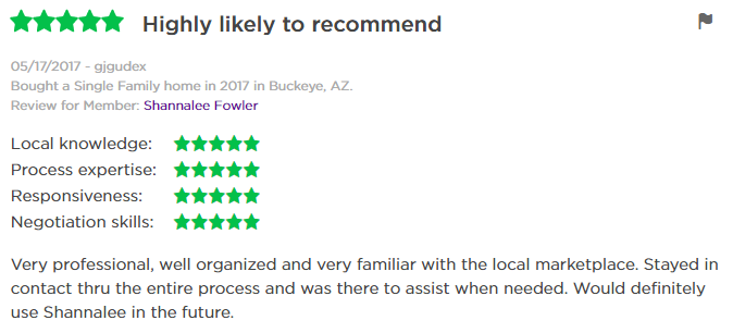 Zillow Trulia Review of Shannalee Fowler