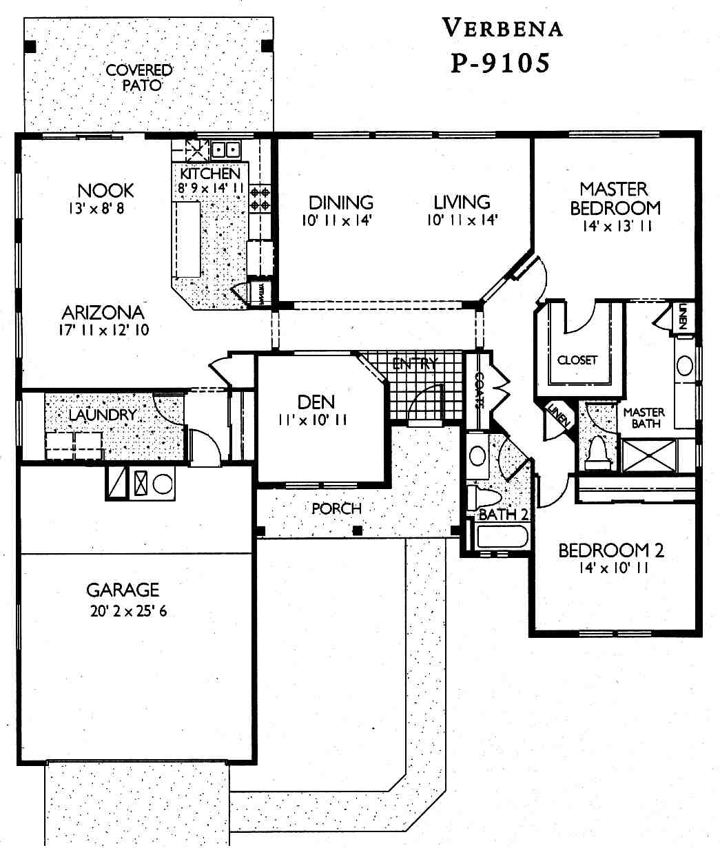 Verbena floor plan sun city grand floor plans for Arizona house plans