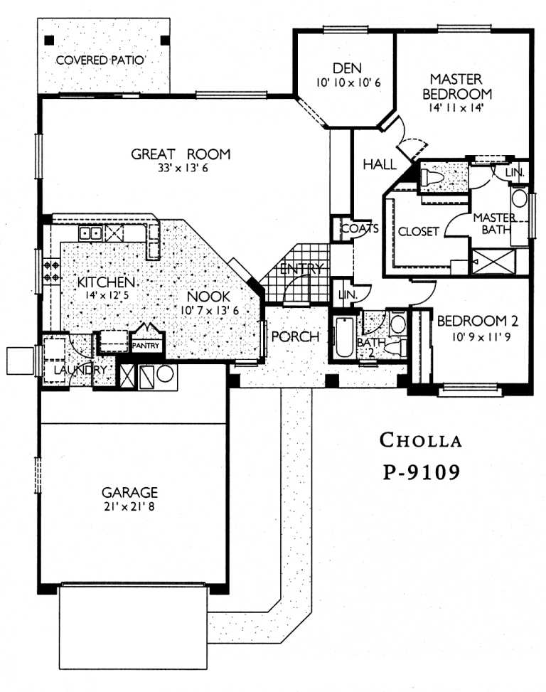 Cholla floor plan cholla model sun city grand floor plans for Az house plans