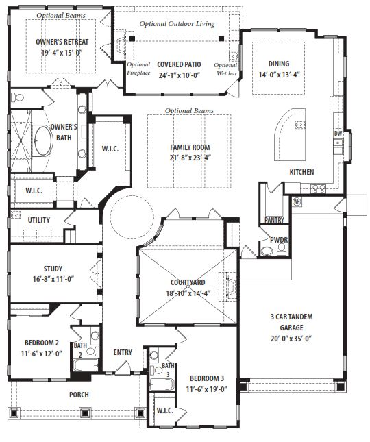 Fruition floor plan by tw lewis victory at verrado for Arizona house plans