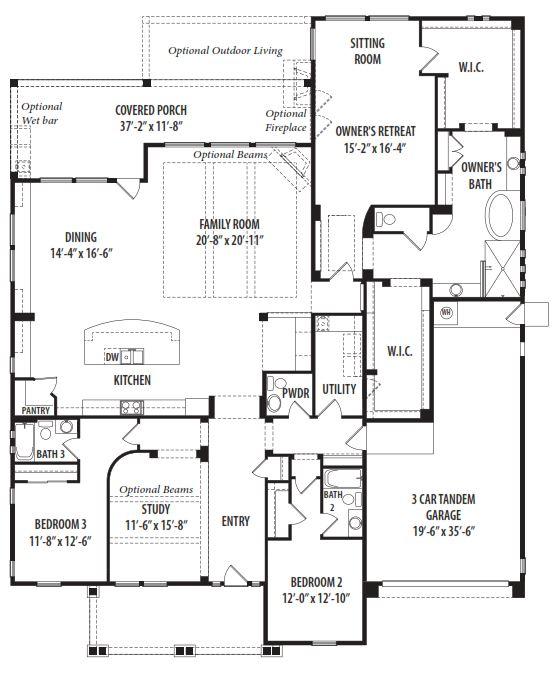 Tw lewis floor plans prosperity floor plan by tw lewis for Blandford homes floor plans