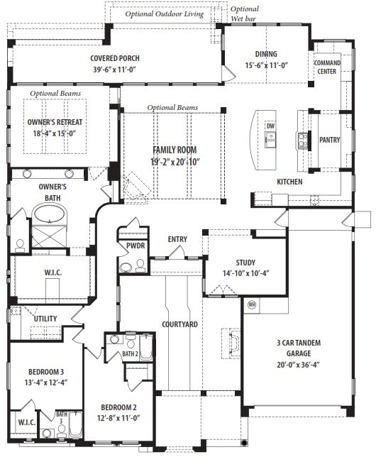 Serendipity floor plan by tw lewis victory at verrado for Az house plans