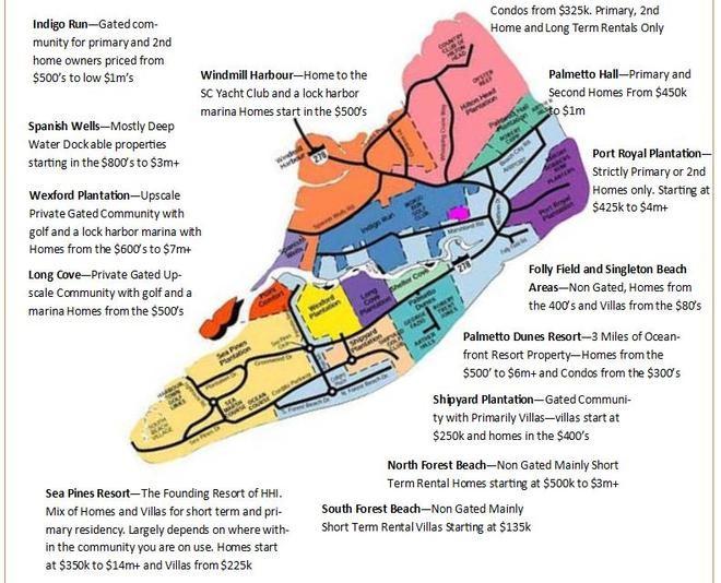 Hilton Head Island Real Estate Map
