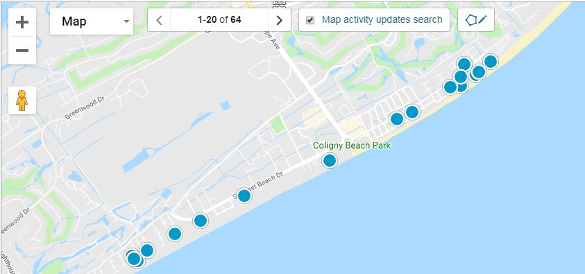 Forest Beach Oceanside Homes for Sale Map