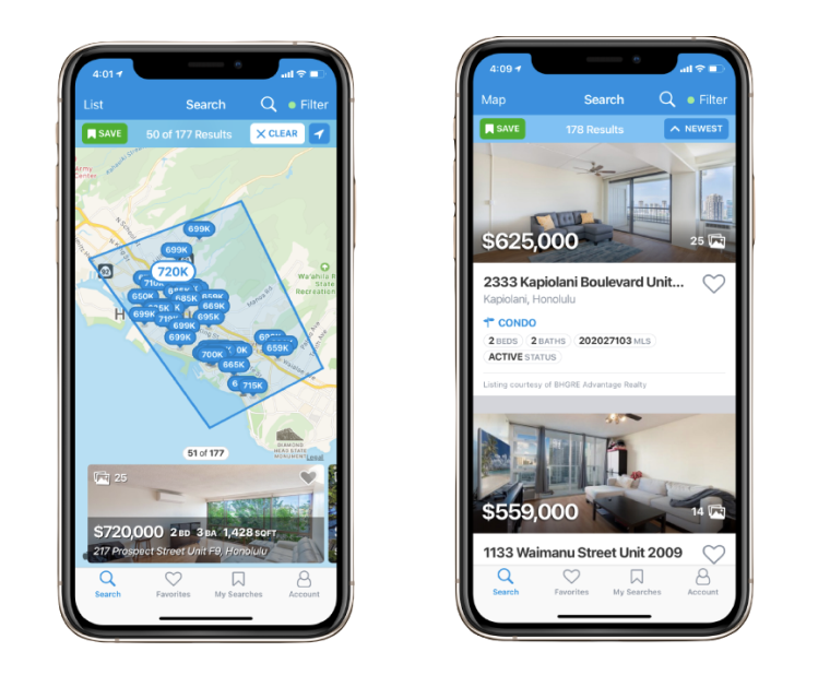 M2 Realty Group Mobile App Property Search